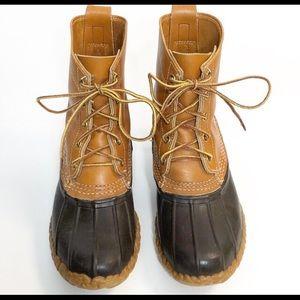 L.L. Bean Rubber/Leather Lace Up Duck Boots